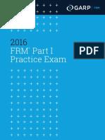 2016 FRM Part I Practice Exam