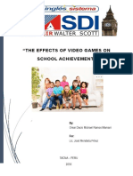 The Effects of Video Games on School Achievement