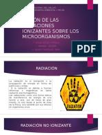 Acción de Las Radiaciones Ionizantes Sobre Los Microorganismos