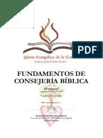 Fundamentos de Consejería Bíblica