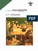 G. T. Deshpande Abhinavagupta