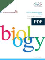 CCEA GCSE Biology Specification