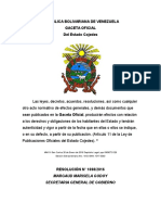 Reforma Parcial de La Ley de Minas Del Estado Bolivariano de Cojedes