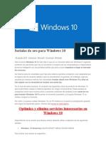 Seriales de Oro Para Windows 10