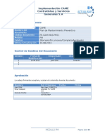 PE-CAM-MUS-PM11 Plan de Mantenimiento Preventivo