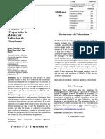 Informe 2 preparación de metano por reducción de cloroformo