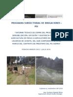 Informe Tecnico Cierre Del Programa Sensibilizacion Difusion y Asistencia Tecnica Agricultura Riego