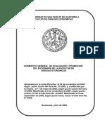 Normativo Gral de Evaluacion y Promocion Del Estudiante CCEE 2009