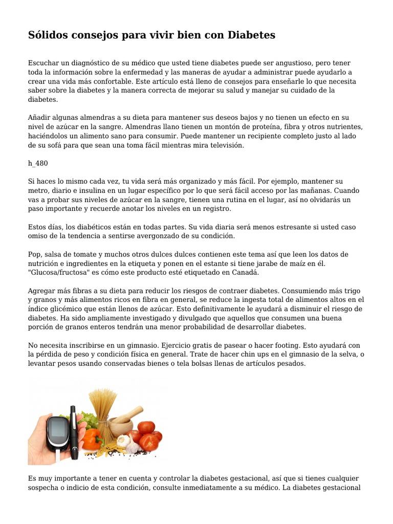 Diabetes gestacional dieta y perdida de pesos