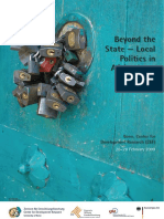 Bericht Zum Symposium Beyond the State - Local Politics in Afghanistan ZEF Bonn 26.02.09-28.02.09