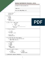 Skema Jawapan Matematik Tahun 4 Kertas 2