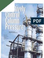 Distillation Column Pressure Control