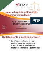 reestructuracion del patrimonio disolucion y liquidacios