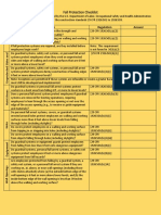 Fall Protection Checklist