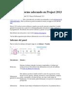 Elegir El Informe Adecuado en Project 2013