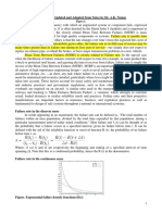 Failure Rate Calculation Note