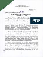 DOJ Department Circular 05-2015