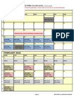2016 MBA Accelerated Full-Time Calendar as at 26.11.2015