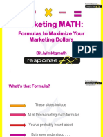 Marketing Math