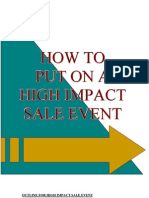 High Impact Sales Event