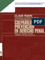 Claus Roxin - Culpabilidad y Prevencion en Derecho Penal.pdf