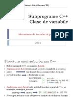Recapitulare Subprograme C++
