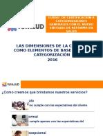 Dimensiones Calidad y Categorizacion 2016