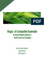 Biogas Combustible Sustentable - Sergio Durandeau - Gerente General KDM Energia 7-09-2011 .pdf