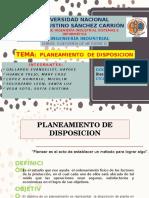 Planeacion de Disposicion