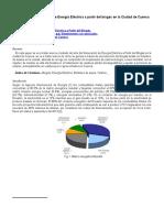 Estado Generacion Energia Electrica Partir Biogas Ciudad Cuenca