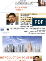 01 Design of Angle Purlin as Per is 800 (2007) Dr Ganesh Kame