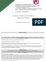 Formato de Planeacion 2016 - 2017