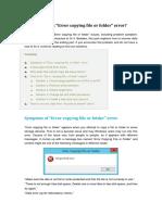 Error Copying File or Folder