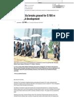 Havelock City breaks ground for $ 166 m commercial_development