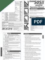 Manual Zoom 505 II