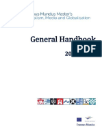 General Handbook Mundus Journalism 2016-2018