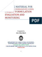 Project Formulation Evaluation and Monitoring