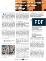 Seismic Performance and Design Requirements for High-Rise Concrete Buildings