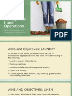 Linen and Laundry Management and Operations