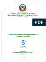 Biogas for Transport Vehicles Final Report