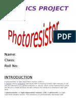 Photo Resistor