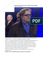 1 Things Jews Need to Know About Trump's Chief Strategist