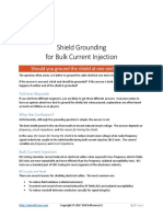 Shield Grounding for Bulk Current Injection