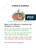 Cleanliness in Schools