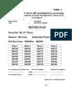 Seating Plan Morning IHM 42 19-6-2016