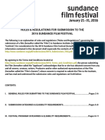 Sundance Film Festival - 2016_Submissions_Rules