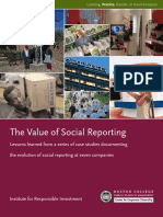 Value of Social Reporting