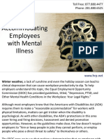Accommodating Employees with Mental Illness