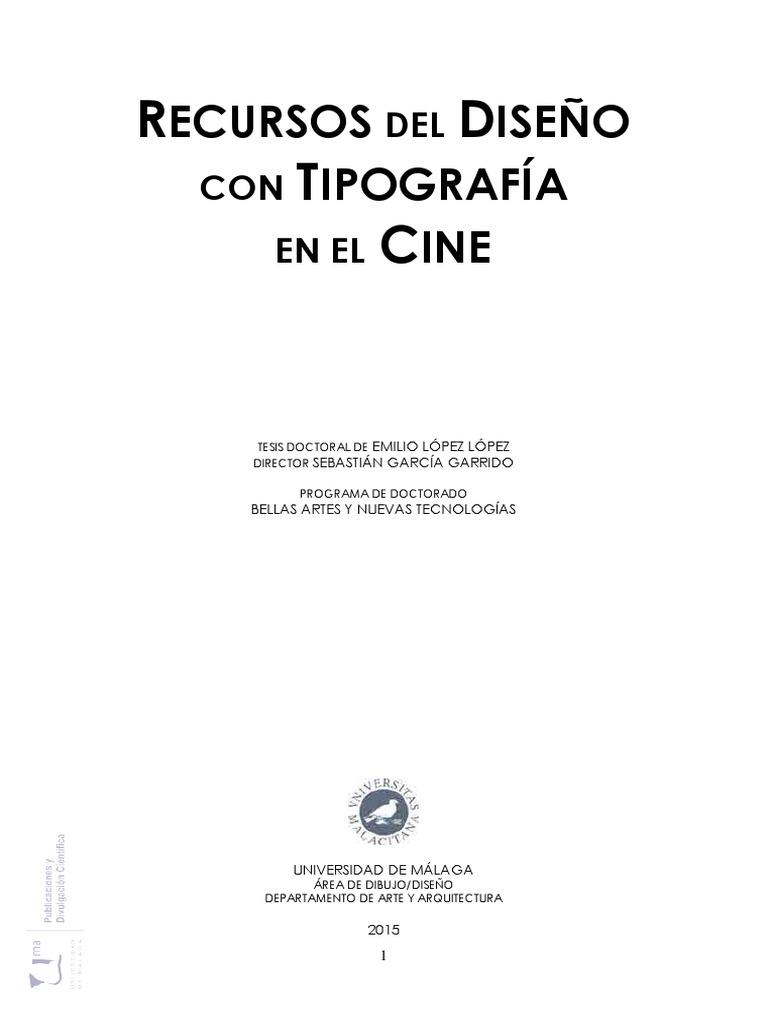 Recursos del Diseño con Tipografía en el Cine