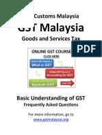 Basic Understanding of GST Customs Malaysia